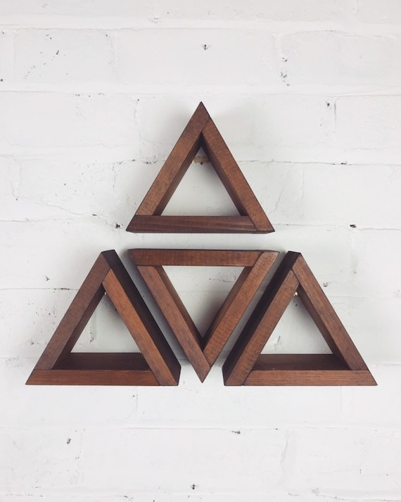 Small triangle shelving made from reclaimed wood