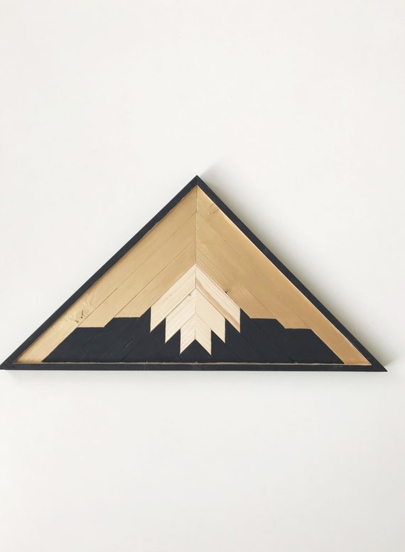 Reclaimed Wood Mountains Industrial, Geometric Wood Art Wall, Reclaimed Lath Mountain Art, Lath Mountain Art, Wood Mountain Decor, Mountains
