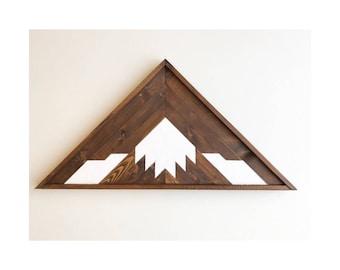 Reclaimed Lath Mountain Art, Triangle Wall Hangings, Mountain Wall Hanging, Boho Wall Hanging, Wooden Mountains Art, Wood Mountains Art