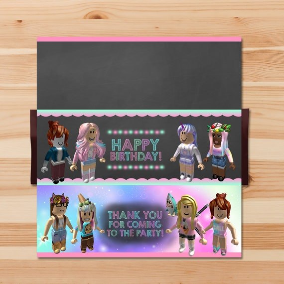 Girl Roblox Candy Wrapper Pink Girl Roblox Chocolate Bar Roblox Birthday Party Girls Roblox Printables Roblox Party Favors 100925 - give me candy sweater roblox