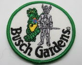 Busch Gardens Florida Dragon and Knight Vintage Sew On 3 quot Circle Travel Patch