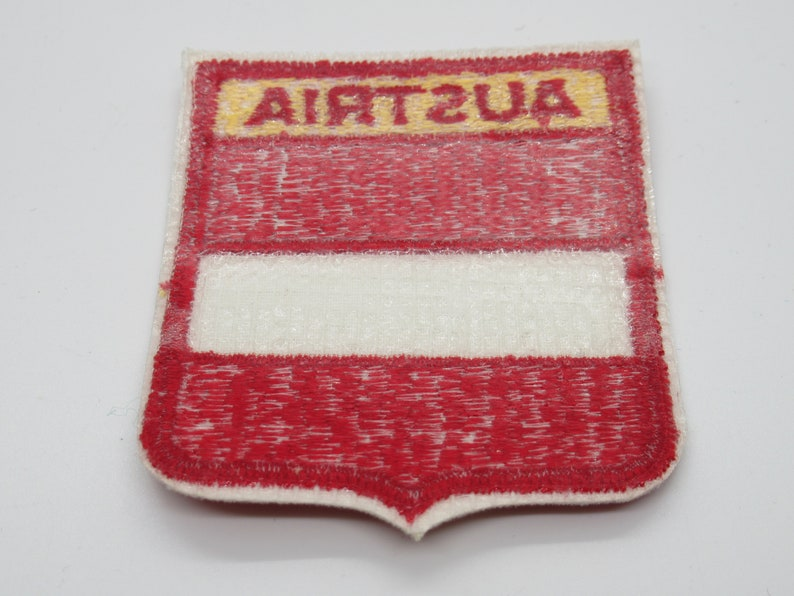 Austria Flag Souvenir Iron On Emblem Travel Patch