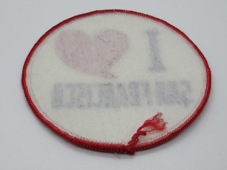 I Love Heart San Francisco California Souvenir Travel Sew On 3 Circle Patch
