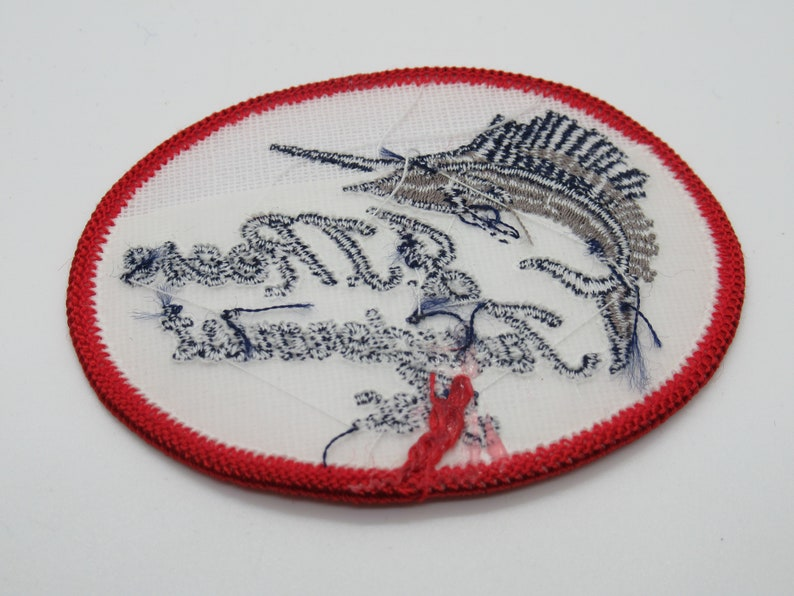 J J Reese Taxidermist Inc Fort Lauderdale Florida Vintage Oval Sew On Fishing Patch