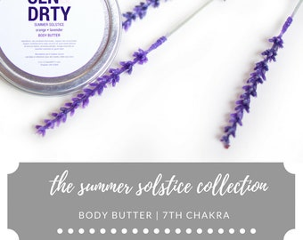 Body Butter | 7th Chakra | Lavender + Peppermint | Summer Solstice Collection