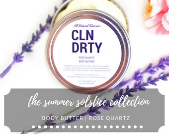 Body Butter | Rose Quartz | English Rose | Summer Solstice Collection