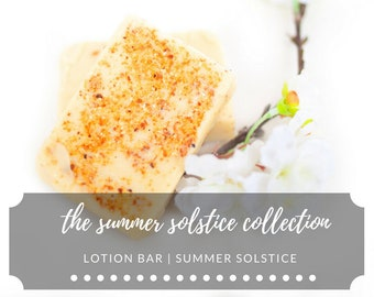 Lotion Bar | Summer Solstice | Lavender + Orange | Summer Solstice Collection