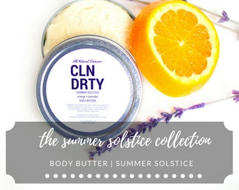 Body Butter | Summer Solstice | Lavender + Orange | Summer Solstice Collection
