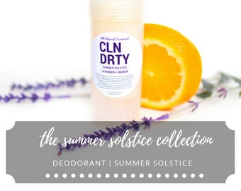 Deodorant | Summer Solstice | Lavender + Orange | Summer Solstice Collection