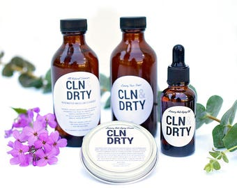 All Natural 3 Step Skincare System - for Combination, Dry or Sensitive Skin Types