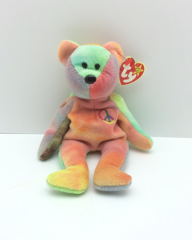 d66859a8fbd Peace Beanie Baby Beanie Babies Vintage Peace Beanie Baby