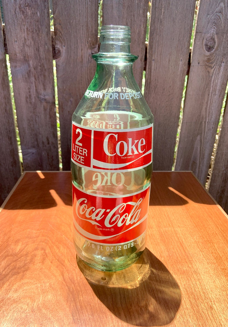 Vintage Coke Bottle, Glass Bottle, Coca Cola Collectables, 2 Liter Glass  Bottle, Rare Size Bottle, Thick and Heavy Glass, Collector Glass