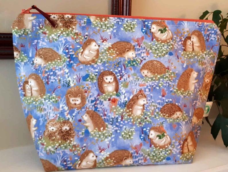 Hedgehogs Large Project Bag