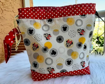 Minnie Mouse  Large Drawstring Project Bag
