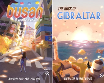 Overwatch Travel Prints Posters