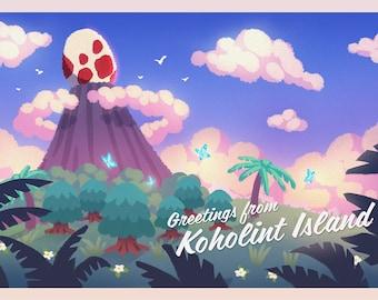 Legend of Zelda Koholint Island Mini Print/Postcard