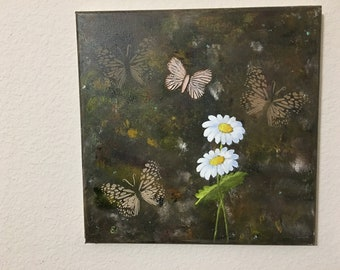 Daisies with Butterflies