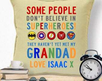 gifts for grandad grandpa grandfather fathers day birthday christmas xmas from grandchildren kids ideas superhero cushion - Christmas Gift Ideas For Grandpa