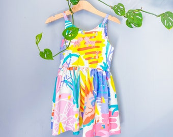Size 3 Girl's Summer Strap Dress. Dress length  not maxi as pictured on model.