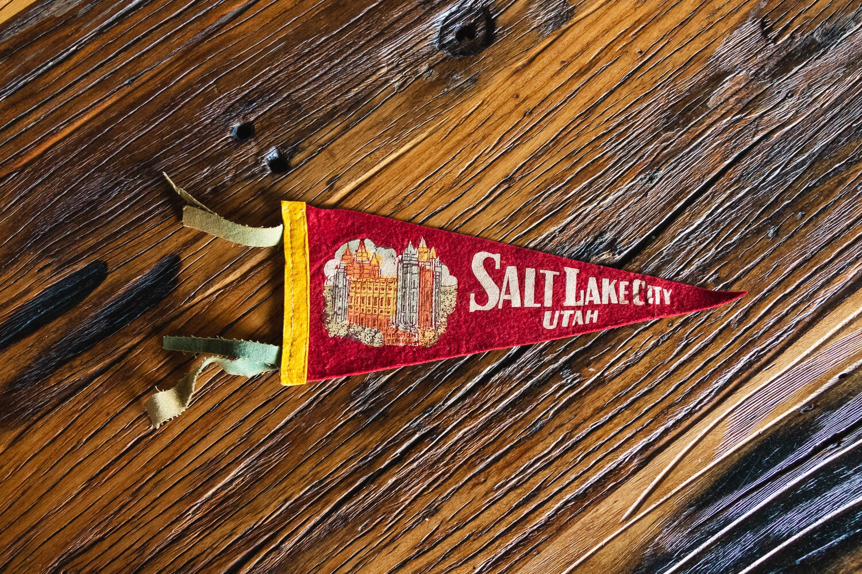 Salt lake city utah pennant vintage felt wall hanging decor etsy jpg  1500x1000 Utah pennant 5be4e22fd