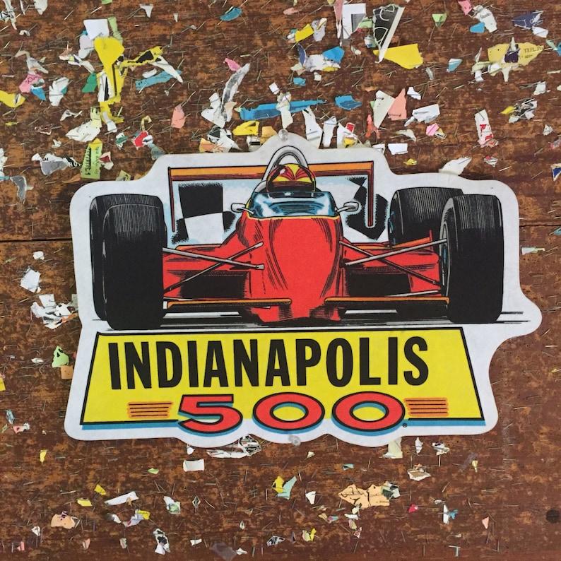 Indianapolis 500 Race Car Pennant Wall Hanging Decor