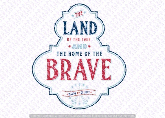 Land Of The Free Svg Quote Quote Overlay Svg Vinyl Cutting Etsy
