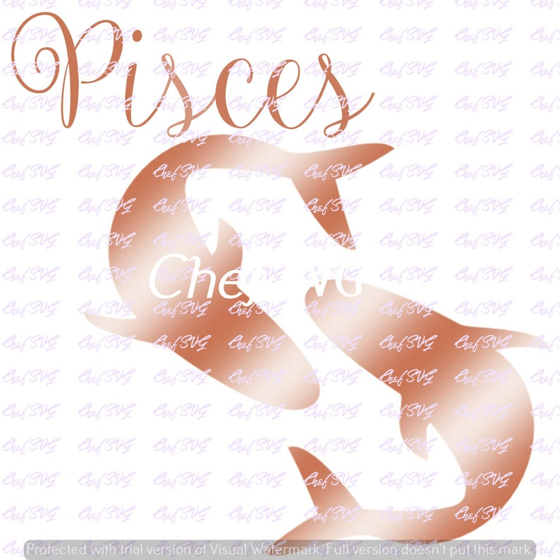 Rose Gold Pisces svg Quote, Quote Overlay, SVG, Vinyl, Cutting File, DFX,  PNG, Cricut, Cut Files, Clip Art, Dxf, Vector File, etsy com