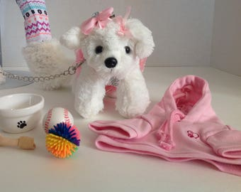 """Leash Collar Pet Dog Set for American Girl Doll 18"""" Accessories Fit"""