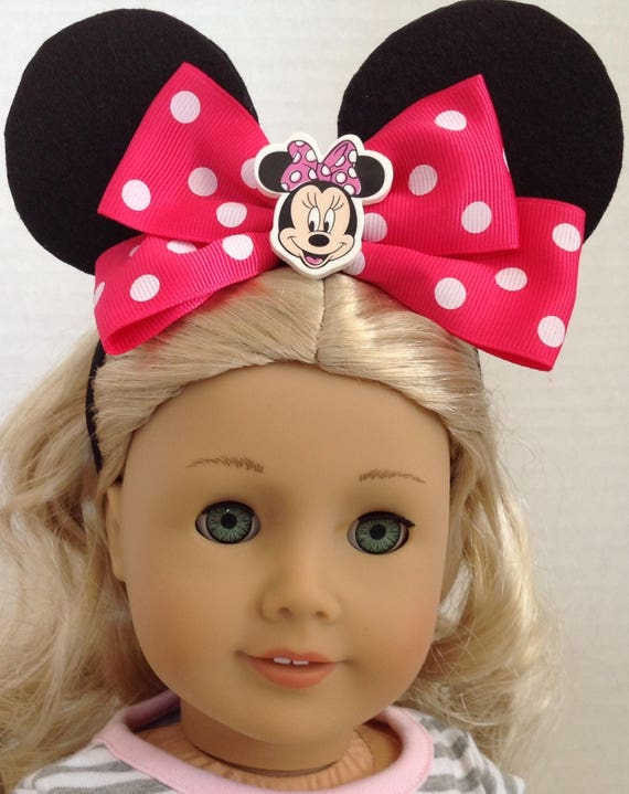 Fit For 18/'/' American Girl Doll Clothes Minnie Mouse Set Disney Red Ear Headband