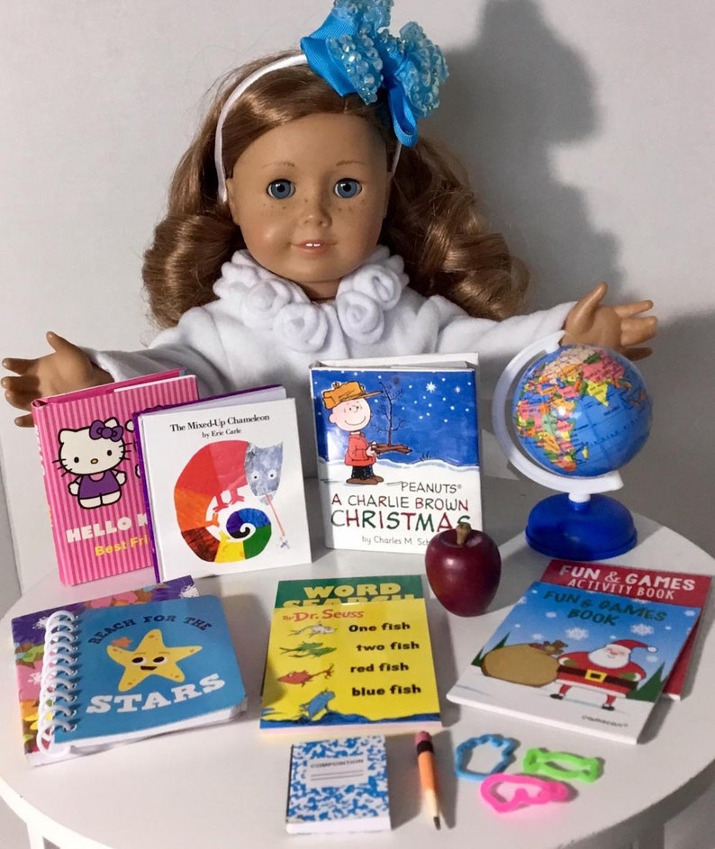 Book and Craft Set Learn /& Play American Girl Doll School