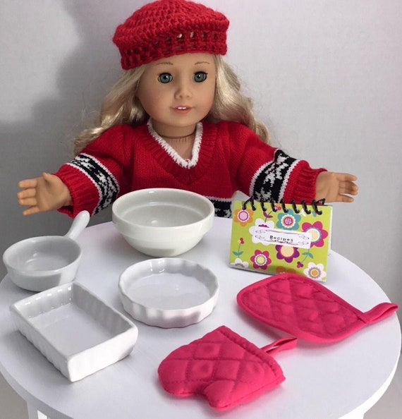 """5PC BAKING ACCESSORY SET fits 18/"""" American Girl Doll Kitchen Pastry Accessories"""