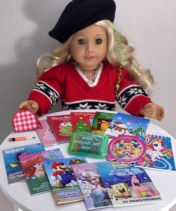 Coloring Books & Crayons for American Girl 18 inch Doll Accessories Fits