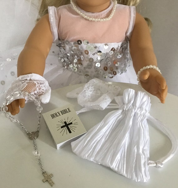 "Ankle Strap Dress Shoe IVORY COMMUNION WEDDING fit 18/"" American Girl Dolls"