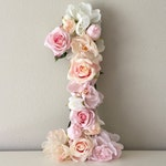 First Birthday Decor, Birthday Number, Party Decor, Flower Number, Floral Number, Birthday Photo, Floral Letter, Flower Letter, Number 1