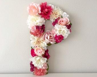 "Wedding Letter 15"" 19"" 24"", Large Floral Letter, Silk Flower Letter, Table Centerpiece, Custom Monogram, Wedding Monogram, Custom Floral"