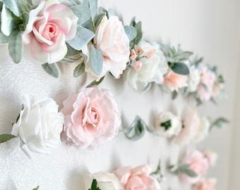 Blush Pink Nursery Decor Girl Decor Flower Wall Hanging Blush Peony Nursery Peony Girl Room Boho Wall Decor Floral Wall Decor Floral Nursery