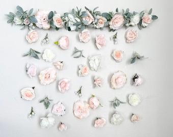 Flower Wall Hanging, Boho Baby Shower, Boho Bridal Shower Decor, Girl Nursery Decor Girl, Over the Crib Sign, Floral Wall, Flower Curtain