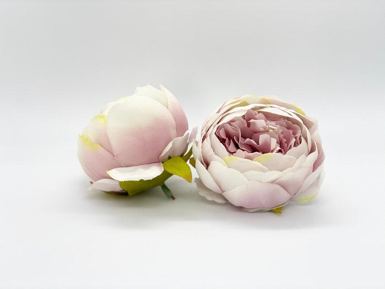 4 Double Peony in Vintage Blush Peony Vintage Lavender Peony Dusty Lavender Artificial Peony Silk Flower Peony Wedding Decor Peony Table