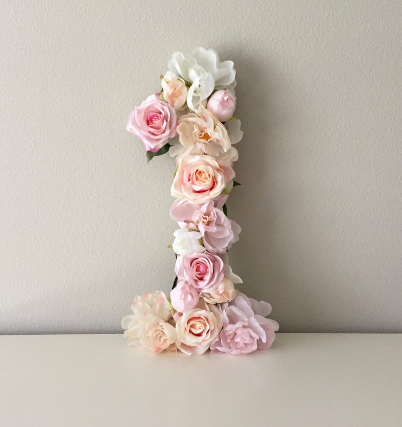 First Birthday Decor Birthday Number Party Decor Flower image 0