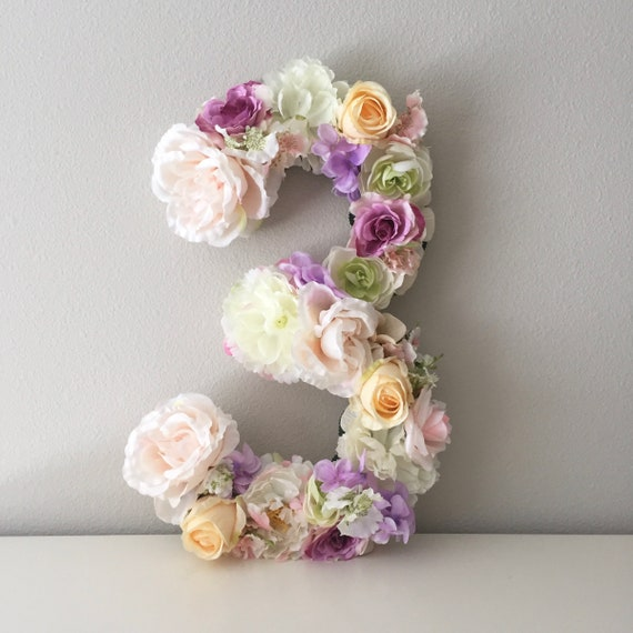 First Birthday Decor Floral Number 1 Princess