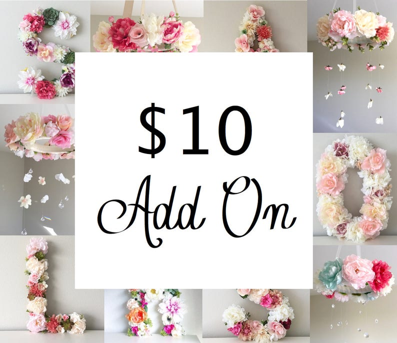 Special Add On for Begonia Rose Co. Floral Letters and Floral image 0