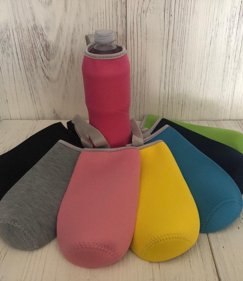 Personalized Water Bottle Sleeve Customizable Bottle Holder Monogrammed Bottle Huggie