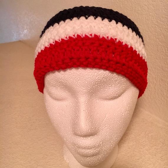 Red Crochet Adult HeadbandEar Warmer
