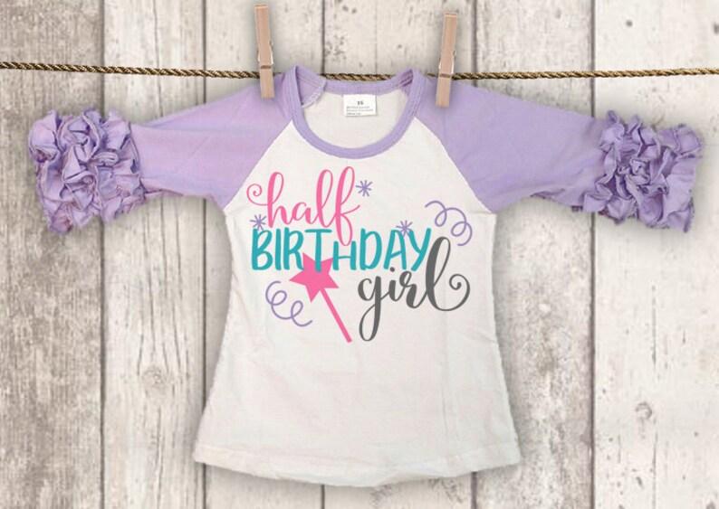 Half Birthday SVG 1 2 Shirt Girls