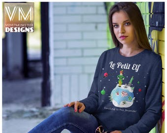 Buddy Elf Inspired Sweaterelf Sweatshirt Will Ferrell Etsy