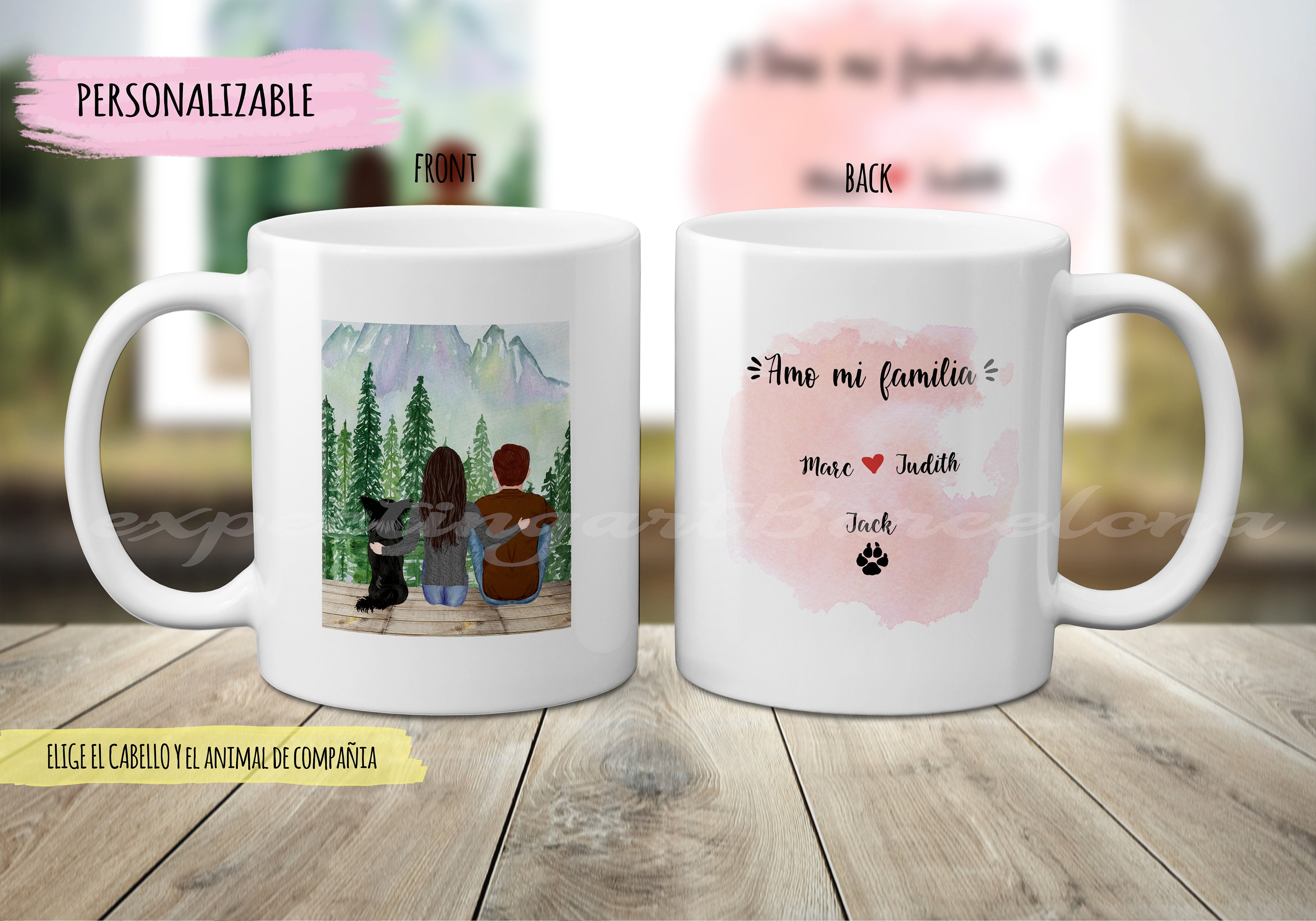 Personalized Cup For Couples With Dogs Friendship Gift Personalized Mug Named Mug Couple Mug Cup Boyfriends Lovely Coffe Tea
