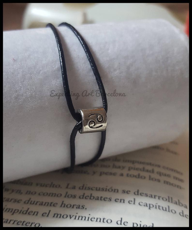 Leder Horoskop Armband Krebs Geschenk Geburtstag Ella Man Tierkreis