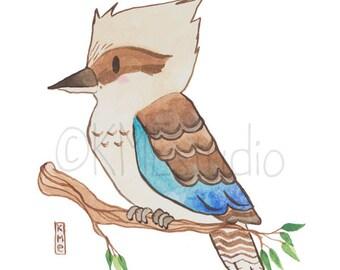 Kookaburra - Australian Animal Nursery Watercolour Print