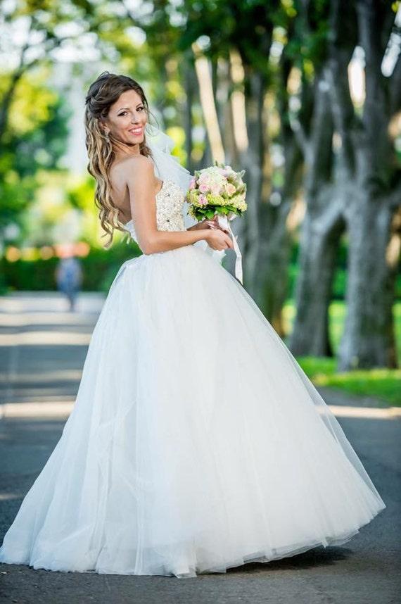 Wedding Dressprincess Beaded Strapless Corset Bridal Etsy