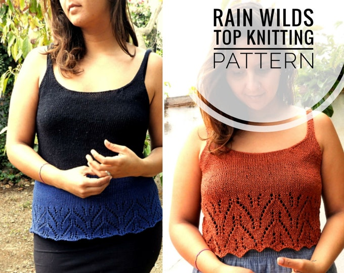 Featured listing image: Rain Wilds Knitting Pattern